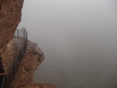 Cliff Overlook -Rainy Day