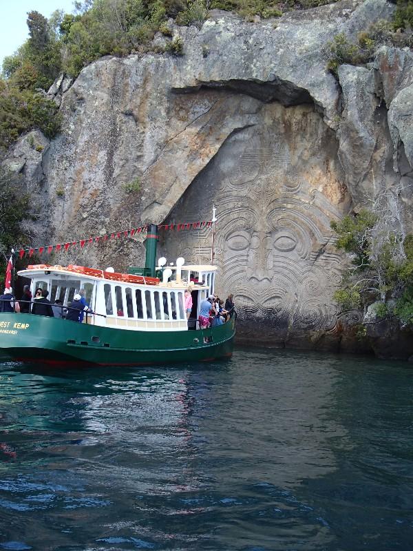 Lake Taupo Maori rock carving