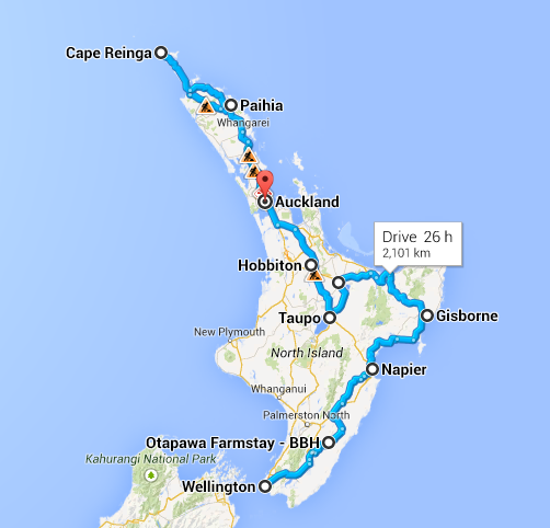 North Island Roadtrip