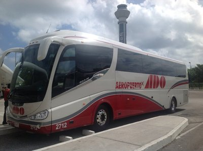 Ado bus at Cancun airport