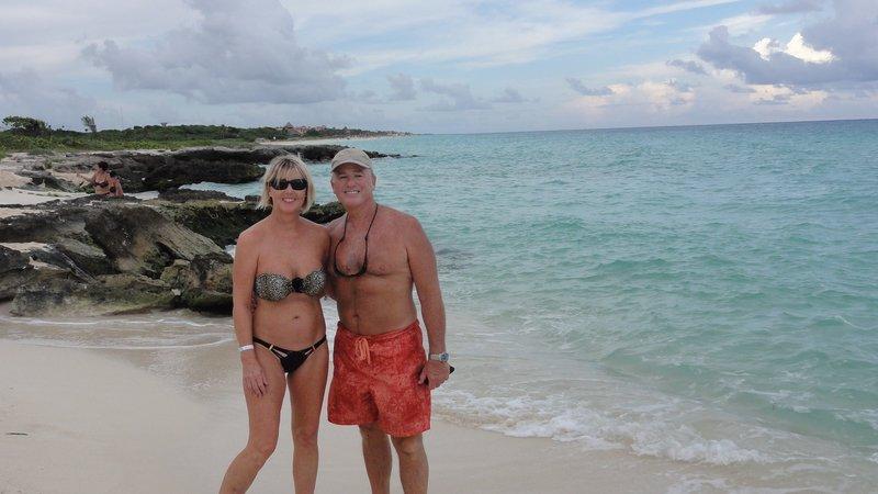 Barbara and Mel near Playa del Carmen, Mexico