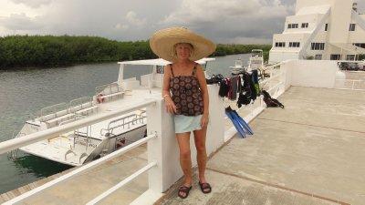 Barbara after snorkel trip