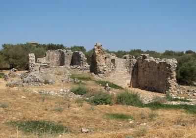 Ancient Roman baths at Aptera