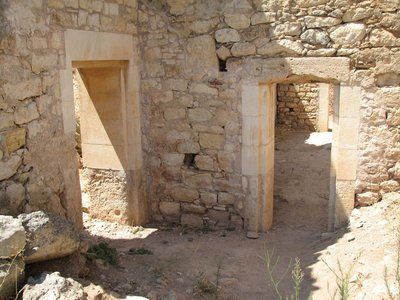 Room in one of the ancient Roman bath houses, Aptera