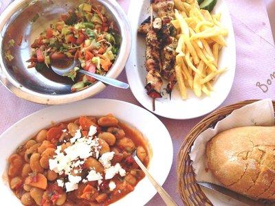 Delicious lunch at the Cretan Corner taverna