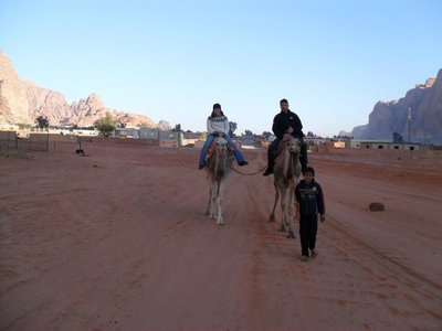 Early morning desert camel ride