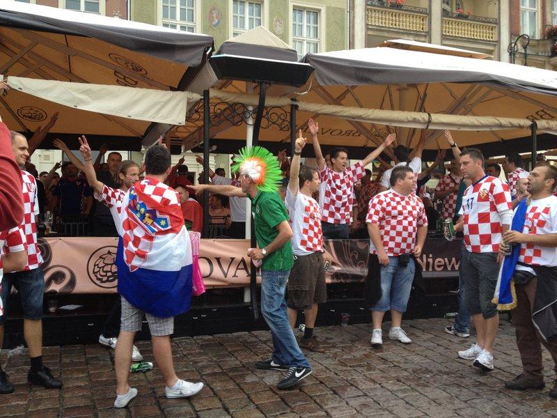 Ireland Croatia fans