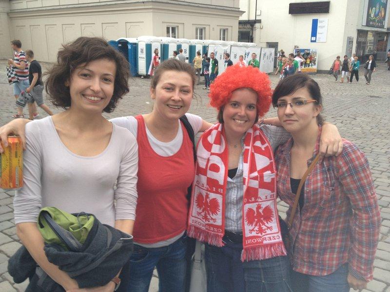 With my Poznan friends