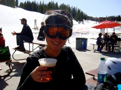 Beer tastes better after skiing