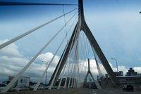 Driving on the Leonard P. Zakim Bunker Hill Memorial Bridge