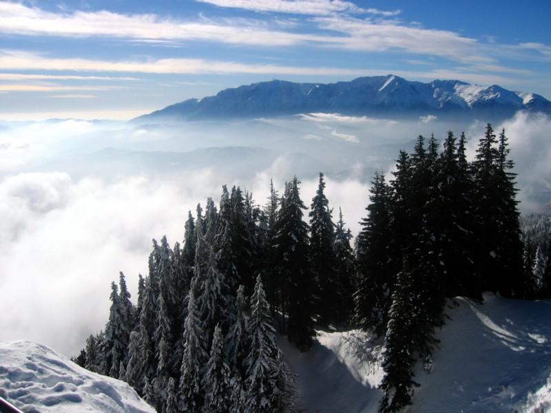 Brasov in poiana in postavarul high altitud.
