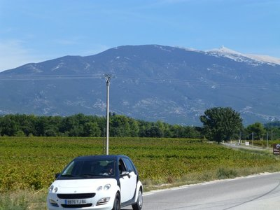 Gravel Not Snow Tops Mont Ventoux  in  Early Autumn