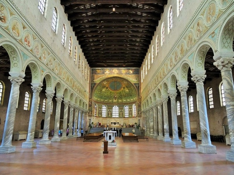 Inside Basilica of St Apollinaria in Classe