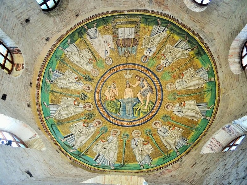 Mosaic in the Arian Baptistry Ravenna