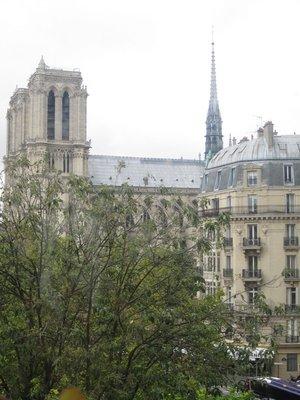 Church of St Germain from my classroom window