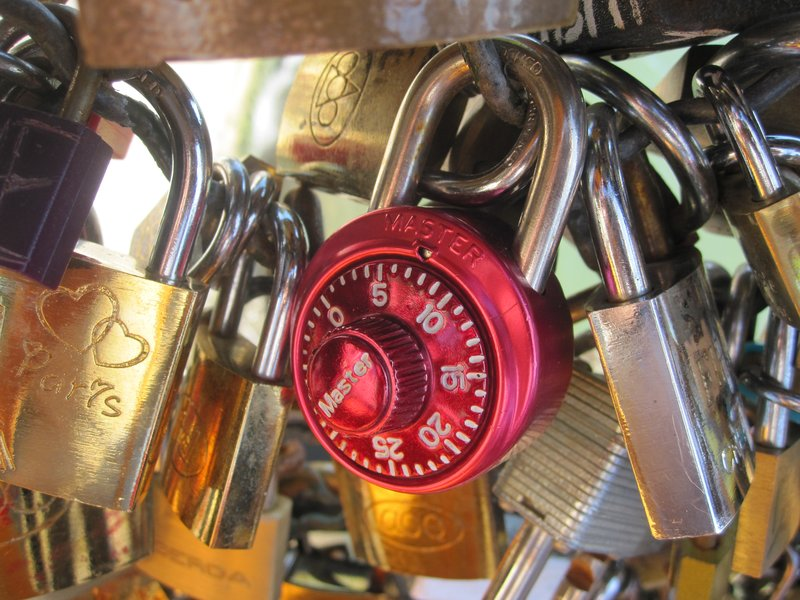 The Players Lock on the Pont Des Arts