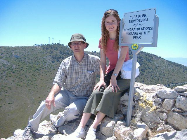 At the peak