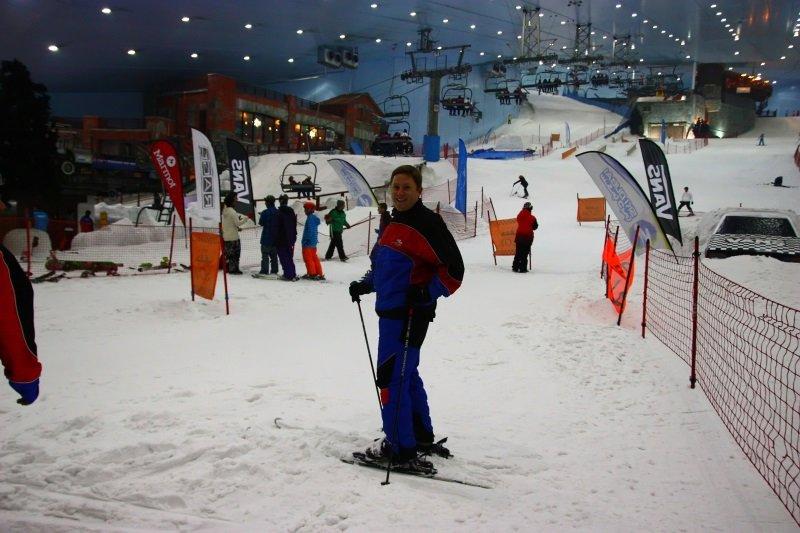 Skiing in the desert