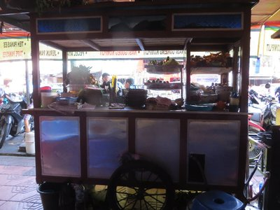 Food stall in Jogyakarta - our last Indonesian lunch