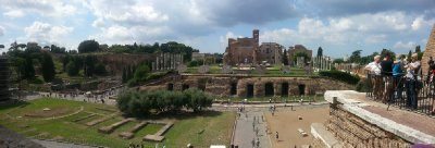 Looking outwards from the Colosseum