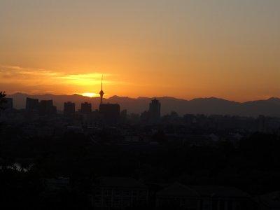 Sonnenuntergang in Beijing