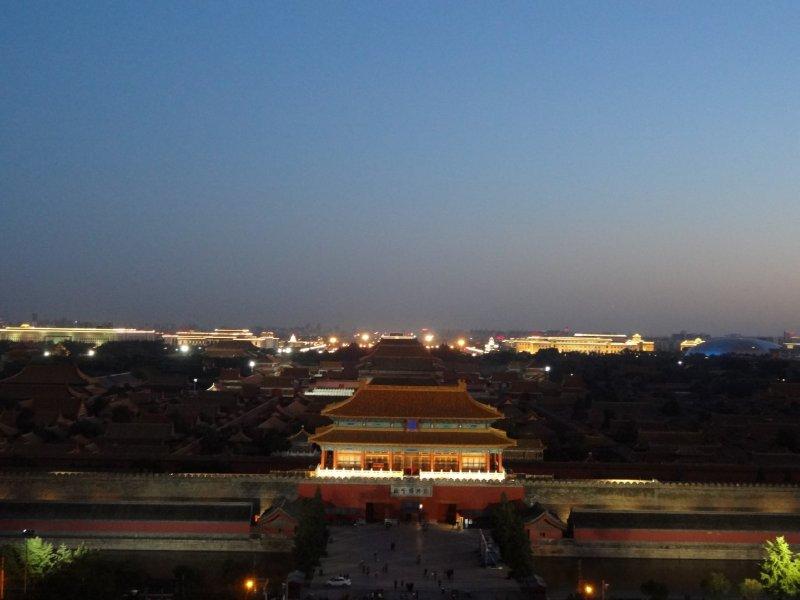 Forbidden City bei Nacht