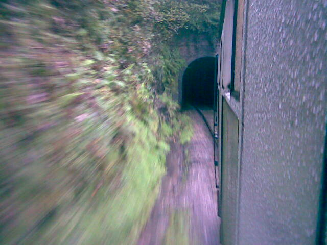 Entering a tunnel