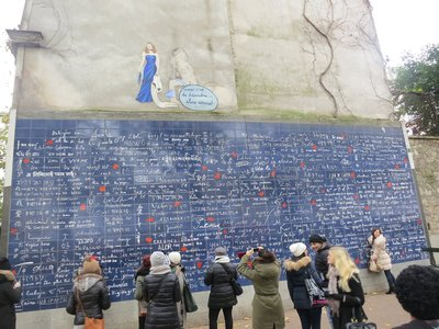 'I Love You' - The wall, Montmartre