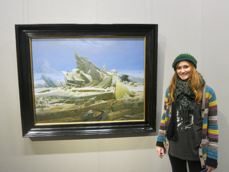 Wreck in the Sea of Ice, Caspar David Friedrich  at Kunsthalle Museum