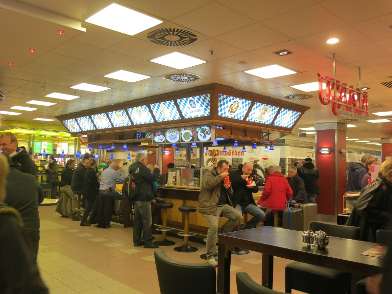 Food court with a bar
