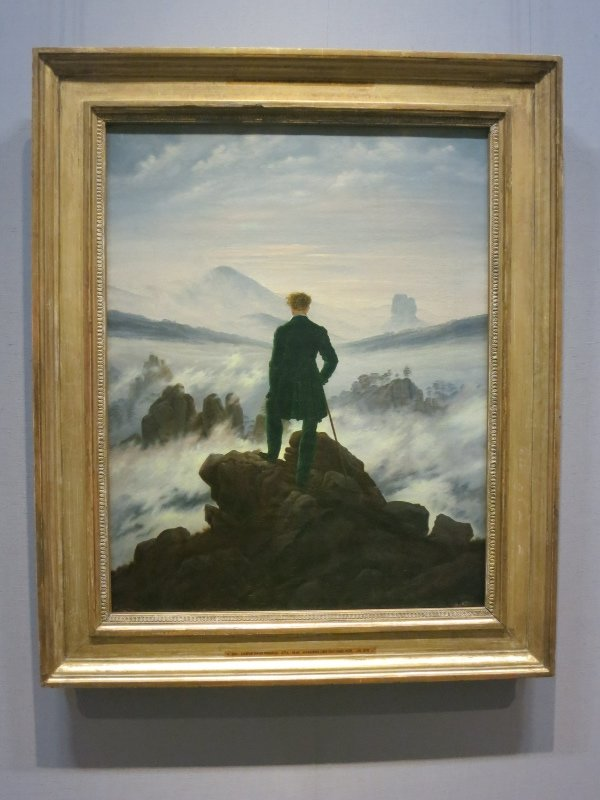 Wanderer Above the Sea of Fog,  Caspar David Friedrich  at Kunsthalle Museum