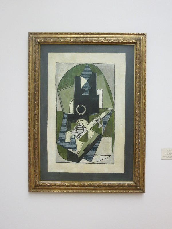 Man With a Guitar, Picasso at Kunsthalle Museum