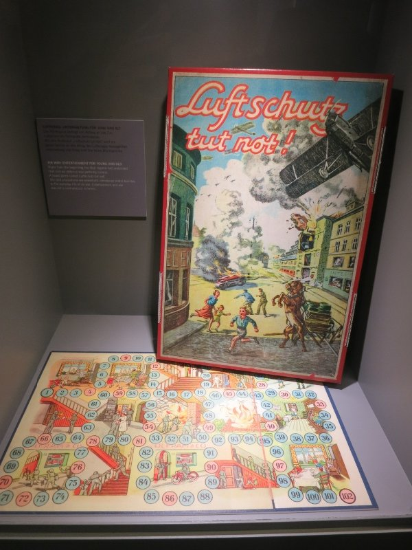 Board game created by the Germans during WW2 to teach children what to do in the event of a air raid