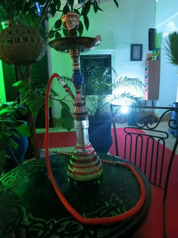 Shisha in the courtyard