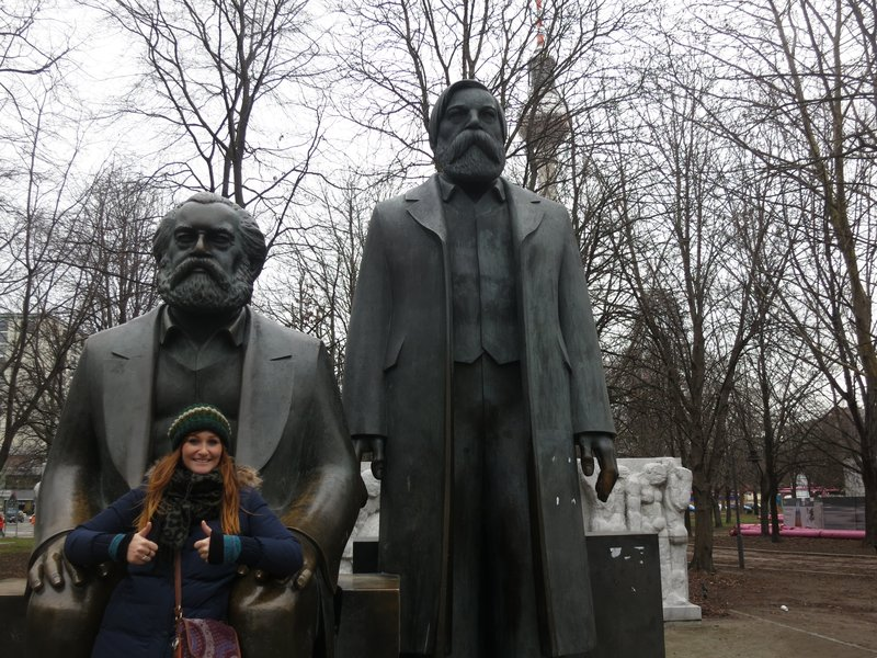 Statue of Marx and Engels opposite Museum Island