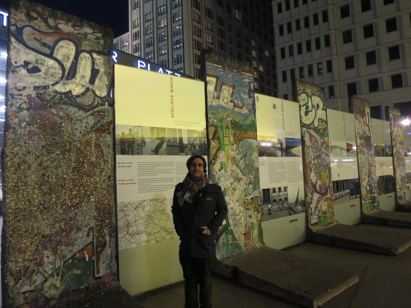 Pieces of the Berlin Wall, outside Sony Centre, Potsdamer Platz
