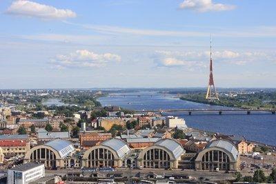 Duagava River,Riga, Latvia