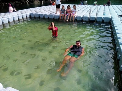 Zach swimming
