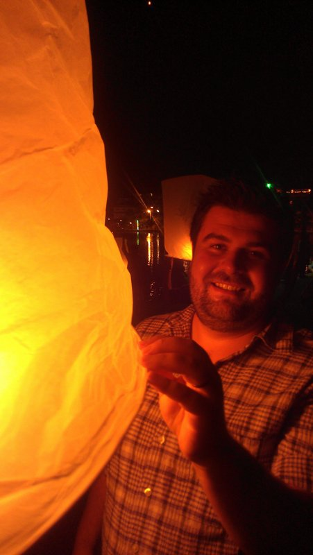 Zach with our lantern