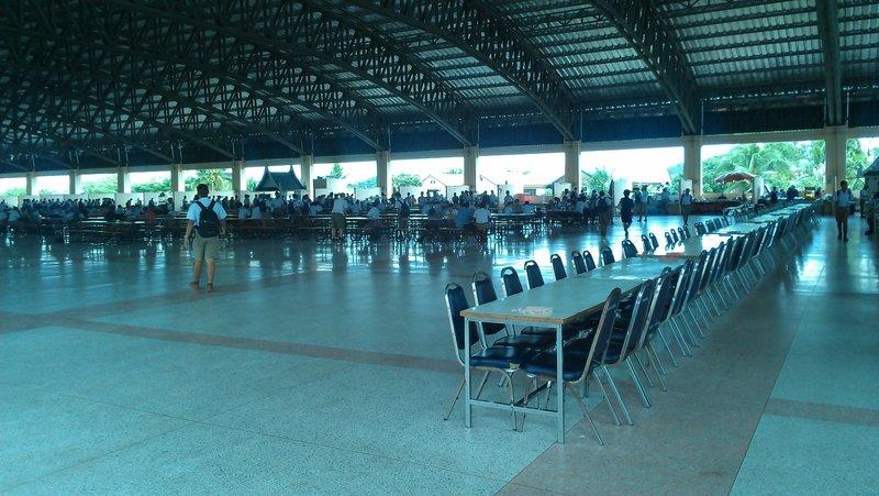 The schools huge canteen