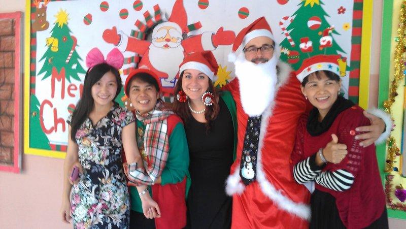 Some of the other teachers and Santa(aka teacher David)