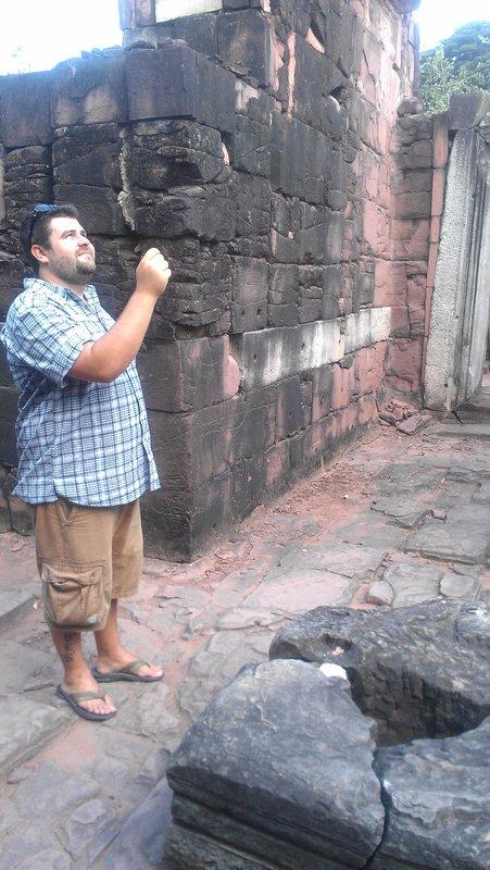 Zach making an offering