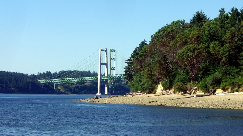 Tacoma Narrows Bridge from Titlow Beach Park