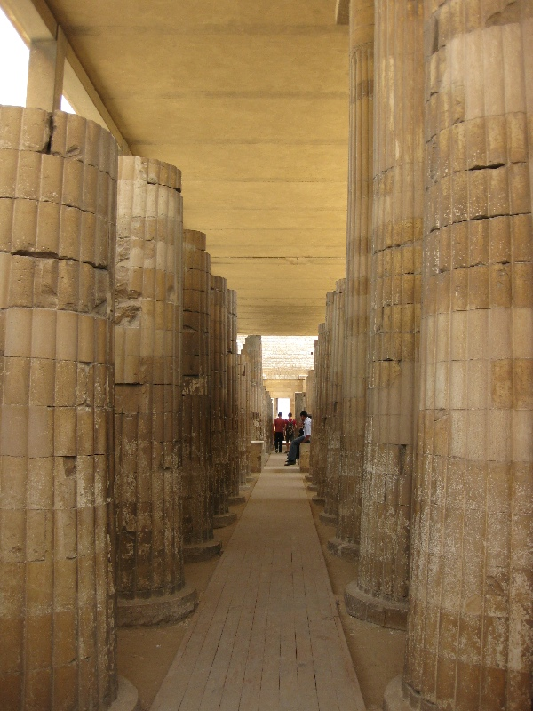 Passageway with tall columns
