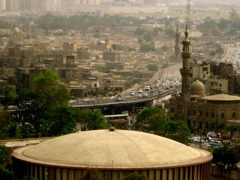 Islamic Cairo city view from Cairo Mosque