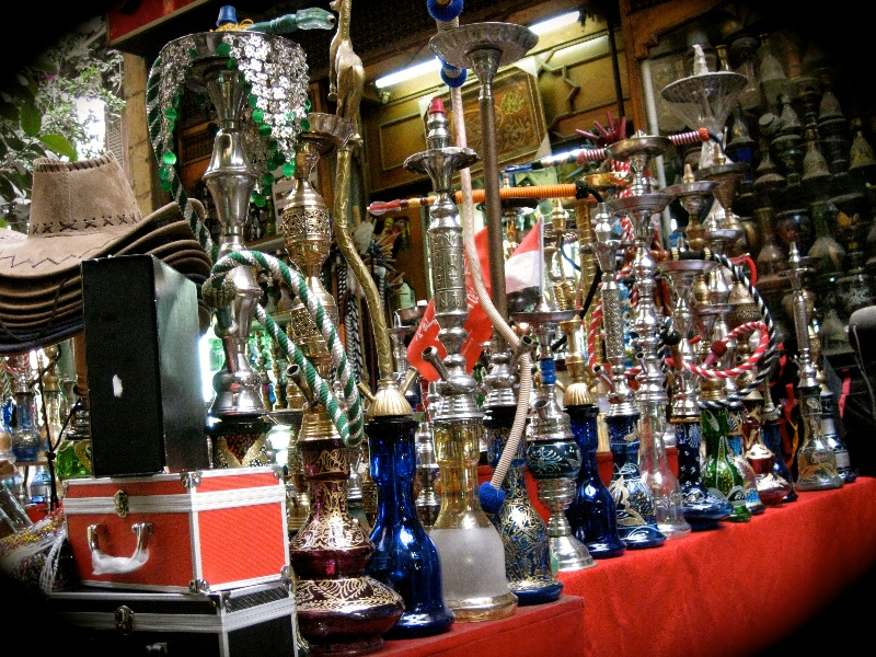 Shisha on display