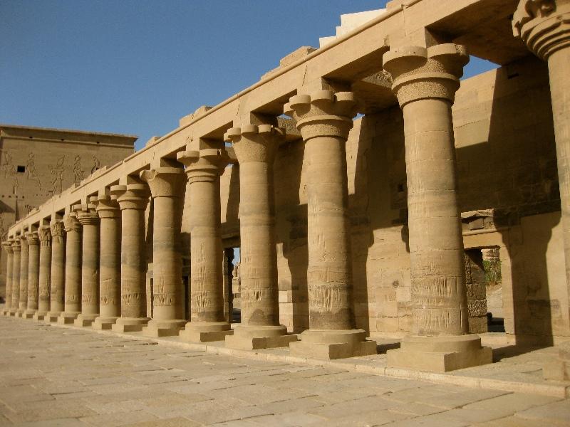 Impressive row of columns