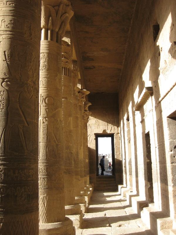 Columns leading into halls