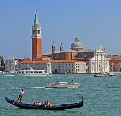 Basilica San Giorgio Maggiore with Boats