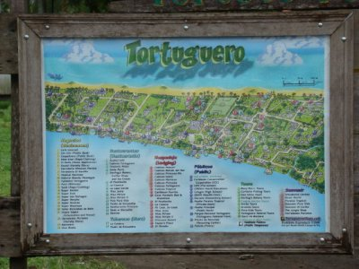 Map of tortuguero